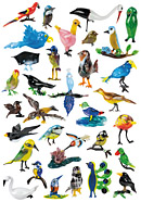 glas geblazen vogels